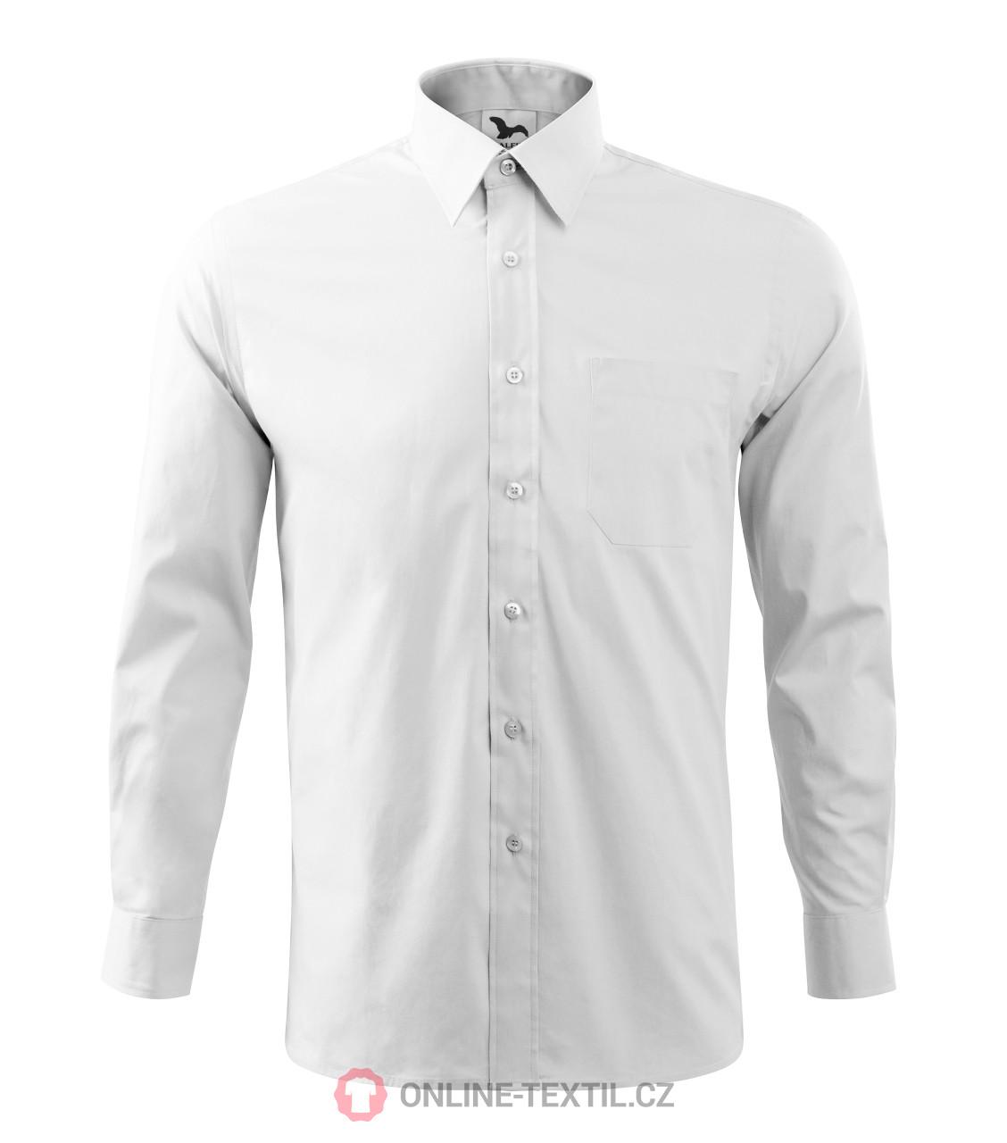 3f188a7f535 ADLER CZECH Pánská košile Style LS s dlouhým rukávem 209 - bílá z ...