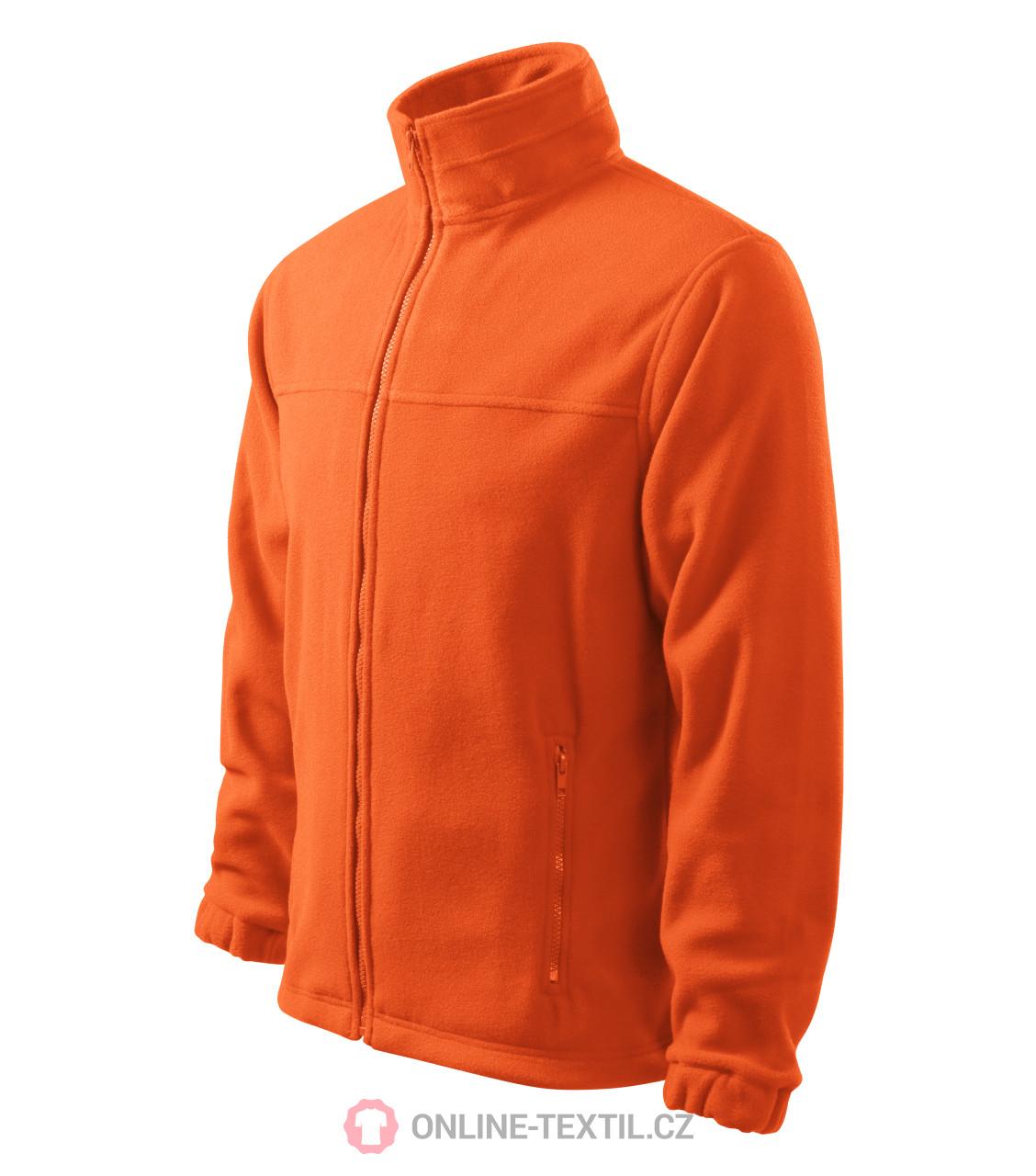 ADLER CZECH Pánská fleece bunda mikina Fleece Jacket 501 - oranžová ... 18df35268b