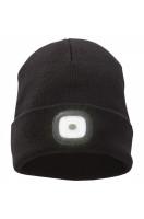 Pletená čepice Mighty s LED čelovkou