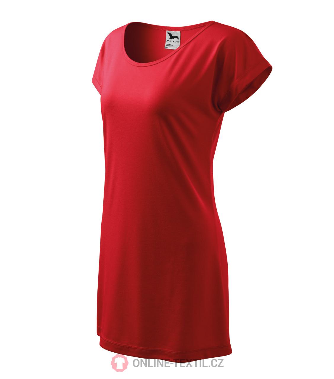 bc80943812 ADLER CZECH Love tričko šaty dámské 123 - červená z kolekce MALFINI ...