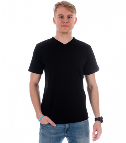 Tričko Heavy V-neck vyšší gramáže