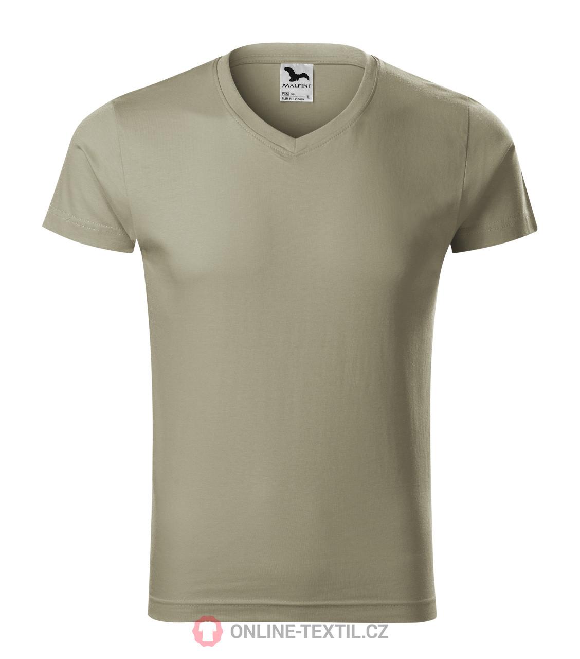 9819c3a1fc5 ADLER CZECH Přiléhavé pánské tričko Slim Fit V-neck vyšší gramáže ...