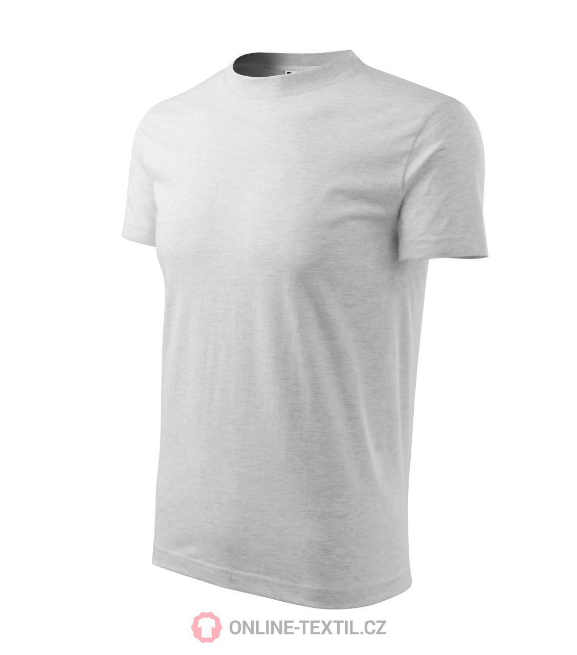 dcab2d9979d2 ADLER CZECH Heavy tričko unisex 11A - světle šedý melír z kolekce ...
