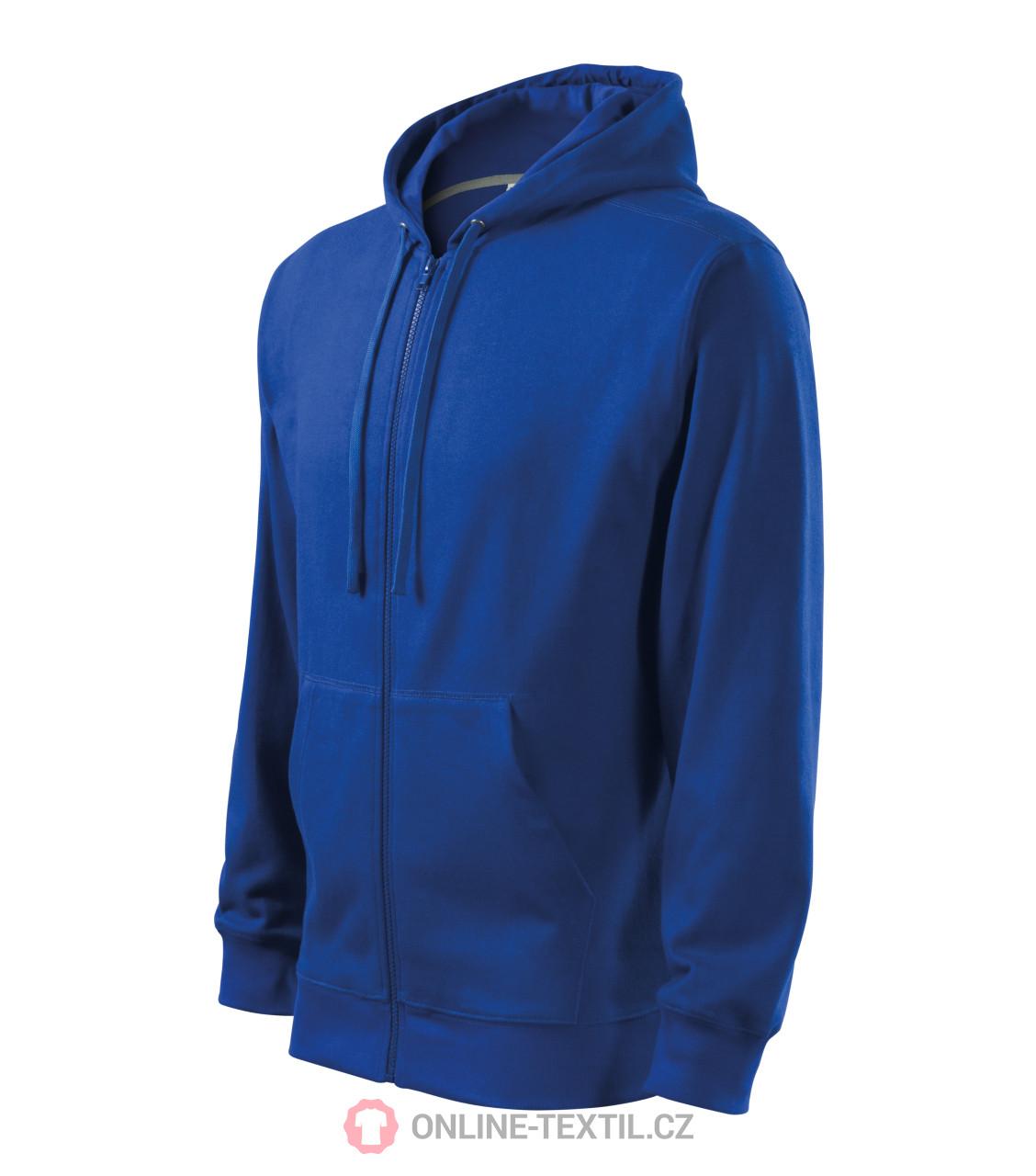 ADLER CZECH Pánská mikina Trendy Zipper s kapucí 410 - královská ... 695085300d1