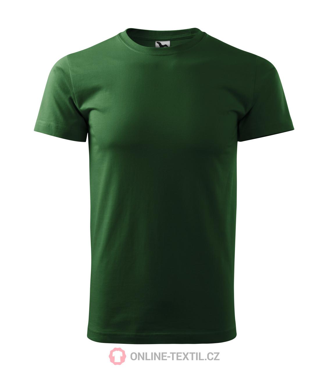 ADLER CZECH Tričko pánské Basic 129 - lahvově zelená z kolekce ... 293eb27ba8