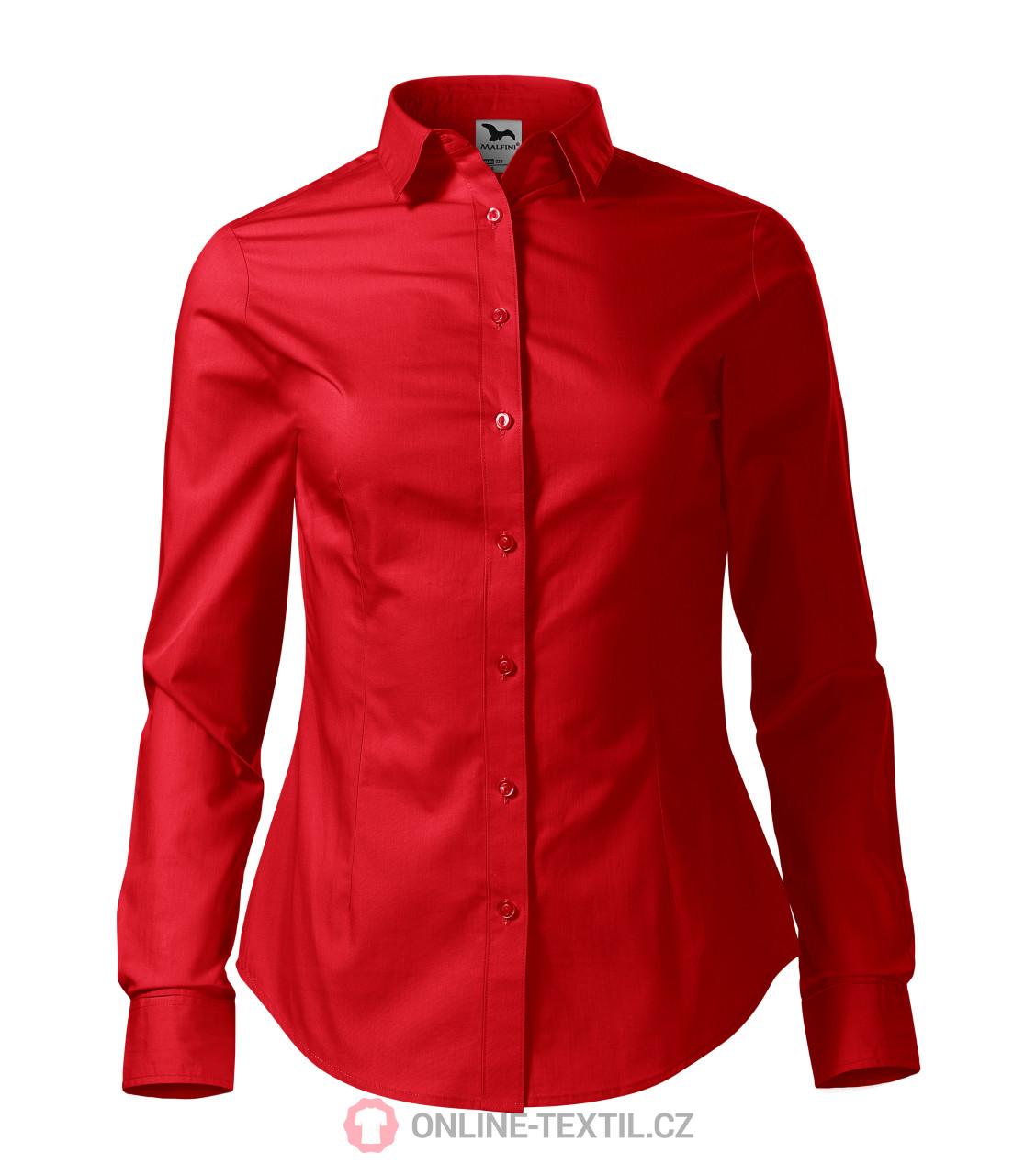 ADLER CZECH Dámská košile Style LS s dlouhým rukávem 229 - červená z ... acc7be17cb
