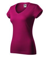 Fit V-neck tričko dámské vyšší gramáže