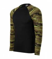 Army triko unisex Camouflage LS s dlouhým rukávem