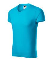 Přiléhavé pánské tričko Slim Fit V-neck vyšší gramáže