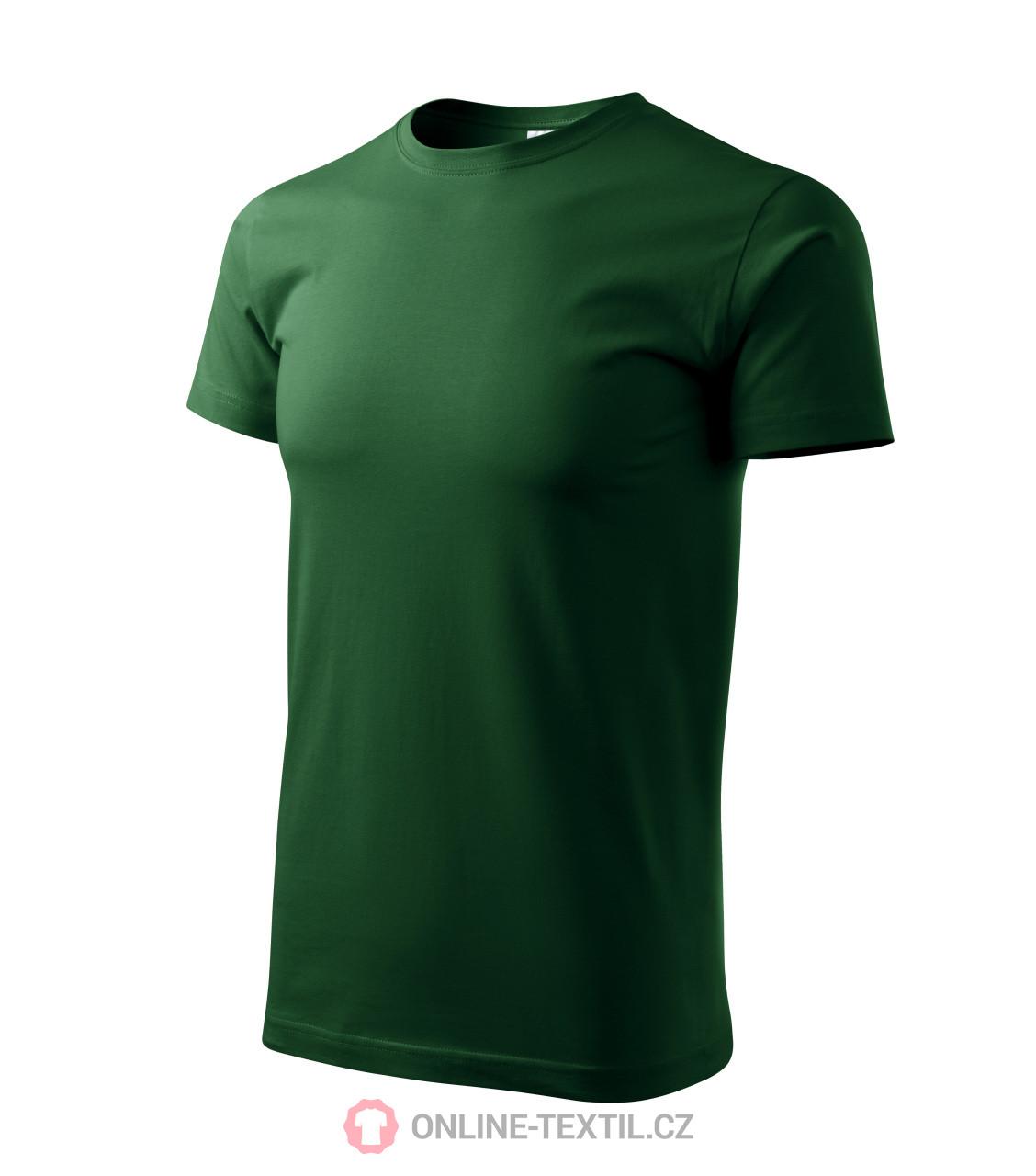 ADLER CZECH Tričko pánské Basic 129 - lahvově zelená z kolekce ... 1f386aa1a2