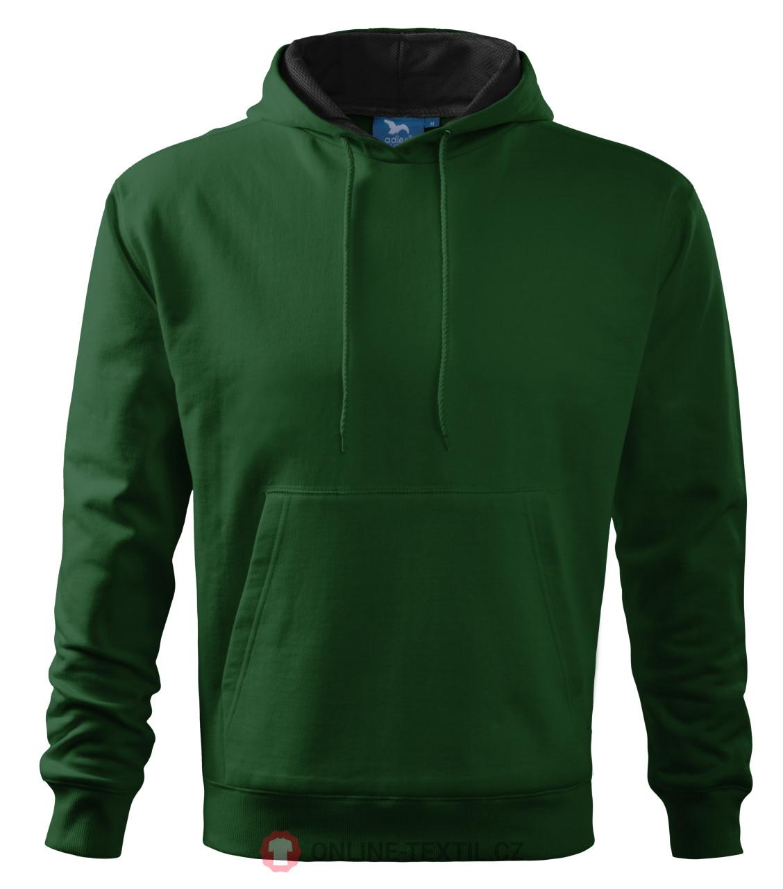 ADLER CZECH Mikina pánská Hooded Sweater s kapucí 405 - lahvově ... 4adb29d28b