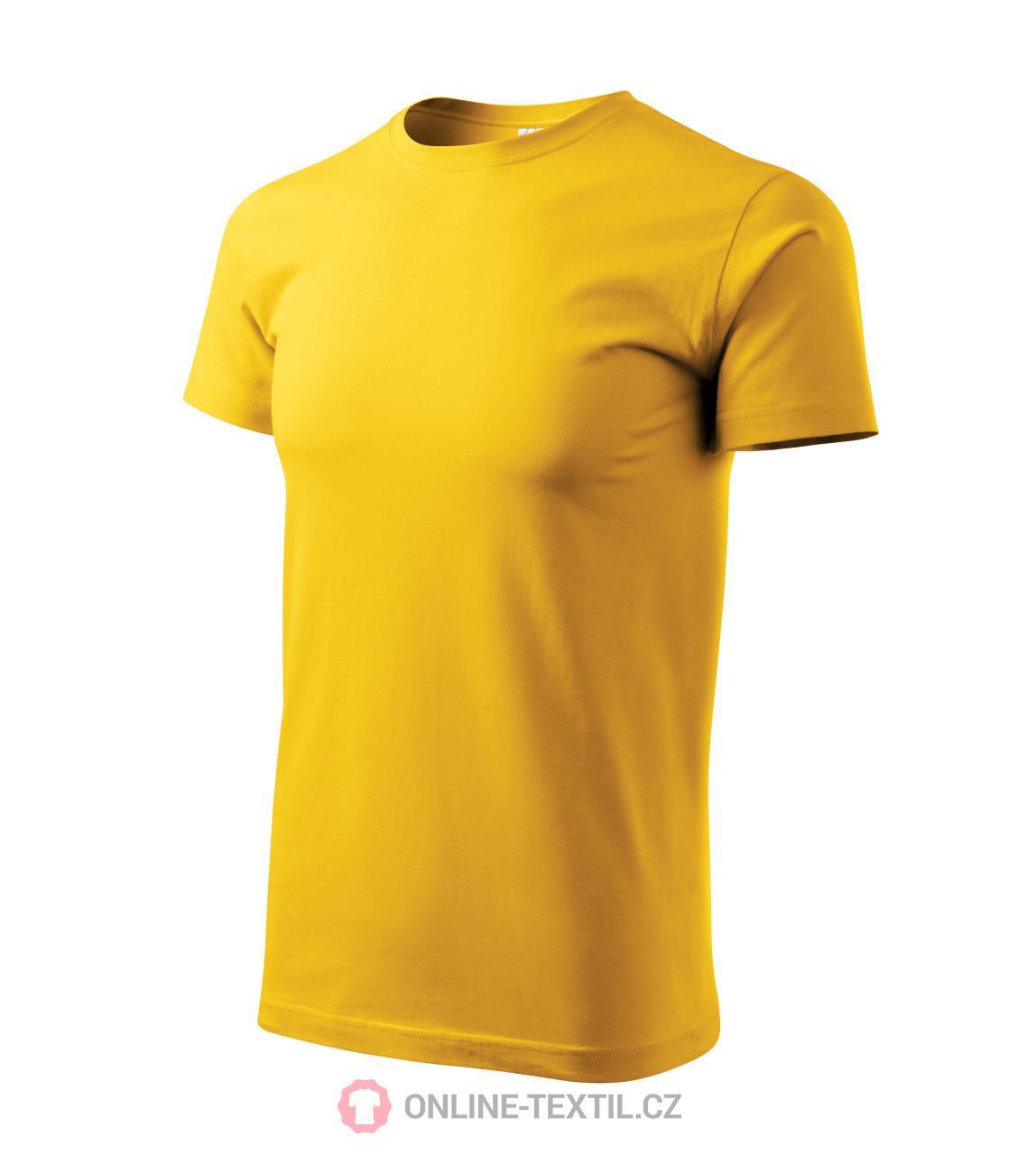 a26e5f3e1a74 ADLER CZECH Tričko pánské Basic 129 - žlutá z kolekce MALFINI ...