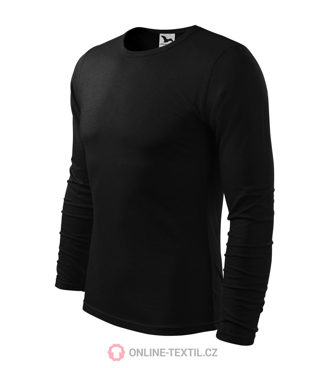 ADLER CZECH Triko pánské Fit-T s dlouhým rukávem 119 - černá z ... 888f9e9b59