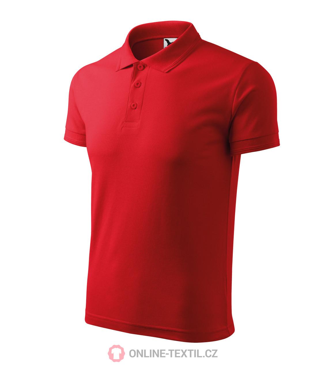 ADLER CZECH Polokošile pánská Pique Polo vyšší gramáže 203 - červená ... 7076c1e20c