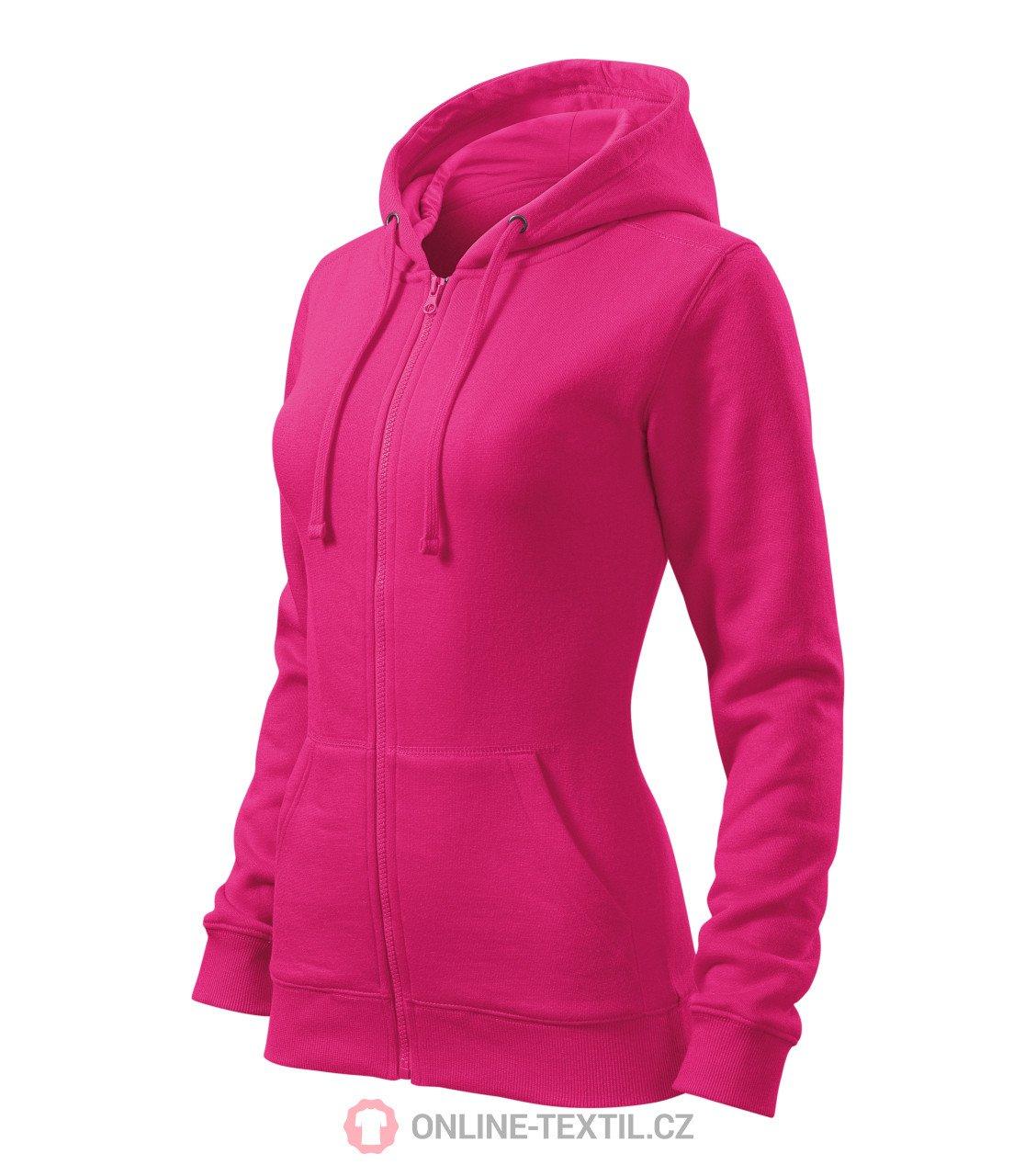 ADLER CZECH Dámská mikina Trendy Zipper s kapucí 411 - purpurová z ... 486054638e0